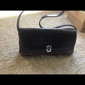 Ralph Lauren Brown Leather evening purse